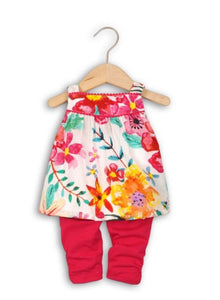 Baby Girls Cotton Floral Top & Leggings Set