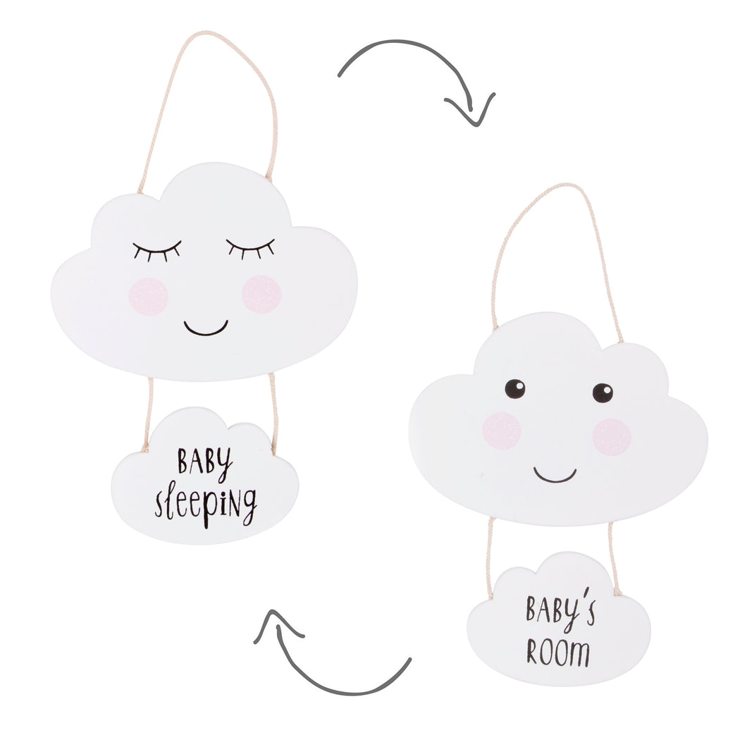 Sweet Dreams Cloud Baby's Sleeping Door Sign