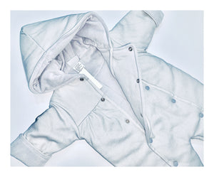 Grey and White Baby Snowsuit