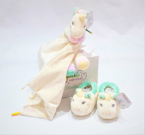Unicorn Comforter & Bootees Set