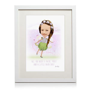 Fairy Themed Personalised Framed Print