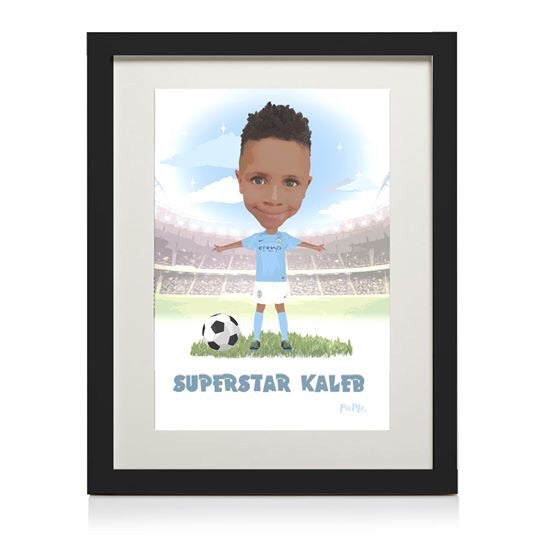 Footballer Themed Personalised Print