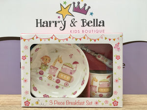 Pink Jungle Baby Breakfast Set