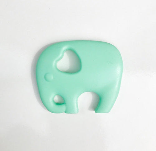 Mint green elephant baby teether