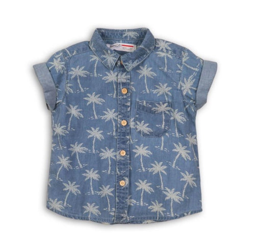 Boys Palm Print Shirt