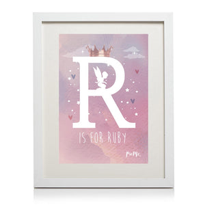 Girls Personalised Box Frame