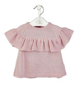 Spanish Design Knitted Ruffle Top & Pants