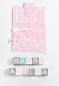 pink scandi nappy wallet