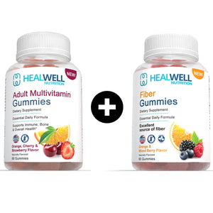 Multivitamin + Fiber Gummies 2 Pack