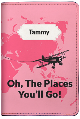 Oh The Places You'll Go - Pink (Passport Holder)