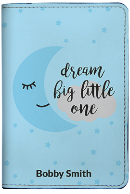 Dream Big Little One - Blue (Passport Holder)