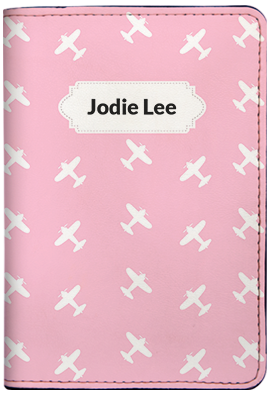 Airplane - Pink (Passport Holder)