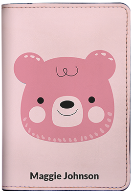 Teddy Bear - Pink (Passport Holder)