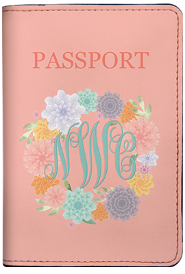 Floral Monogram (Passport Holder)