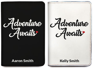 Adventure Awaits Heart (Passport Holder) - Set of 2