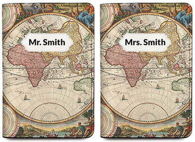 Vintage Map (Passport Holder) - Set of 2