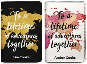 To A Lifetime Of Adventures Together (Passport Holder) - Set of 2