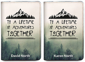 To A Lifetime Of Adventures Together Mountains (Passport Holder) - Set of 2