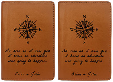 As Soon As I Saw You I Knew Adventure Was Going To Happen (Passport Holder) - Set of 2