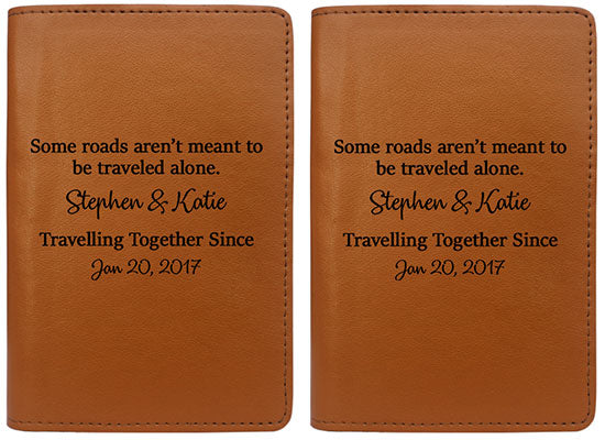 Some Roads Aren't Meant To Be Traveled Alone (Passport Holder) - Set of 2