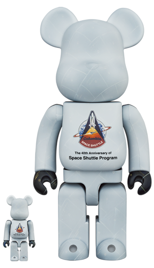 BE@RBRICK SPACE SHUTTLE 100% & 400% (Pre-order)