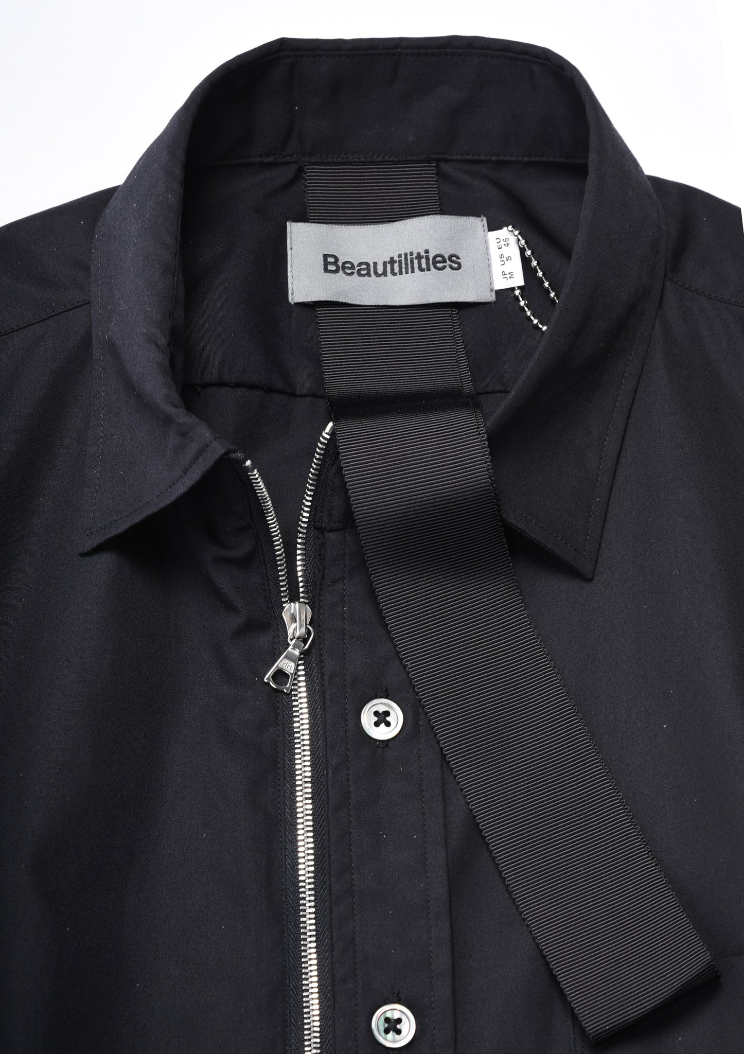 Beautilities Utility Zip Shirt Black