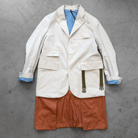 Nigel Cabourn Packaway Blazer Jacket White