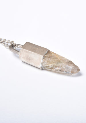Parts of Four Tailsman Necklace (Rutilated Quartz, DA+RQ)