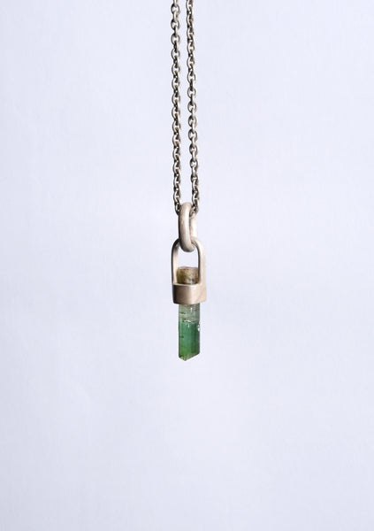 Parts of Four Talisman Necklace SPECIMEN (Green Tourmaline, DA+GTOU)