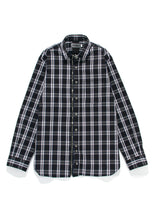 Beautilities Utility Zip Shirt Black x Blue Check