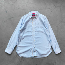 Beautilities Utility Zip Shirt White x Light Blue Stripe