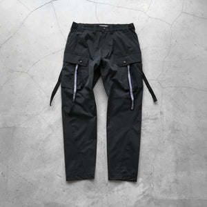White Mountaineering Stretched Cargo Tapered Pants Black
