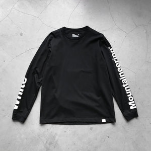 White Mountaineering Logo Printed Sleeve Sweater Black
