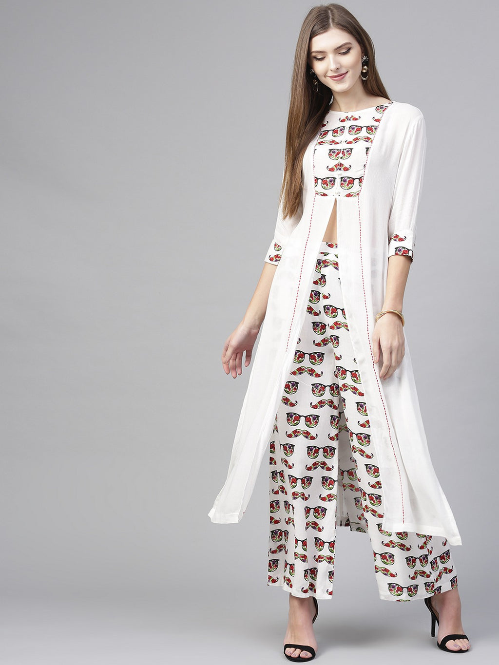 SPEC PRINTED KURTA WITH PALAZZO | Znx4ever.com