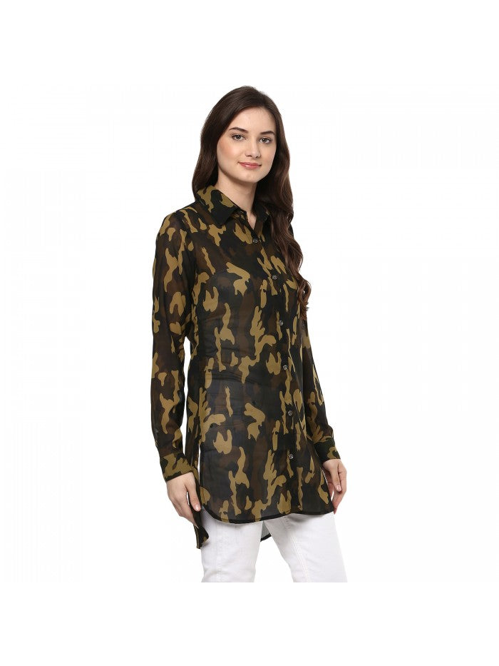 Mayra Military Colour Shirt | Znx4ever.com