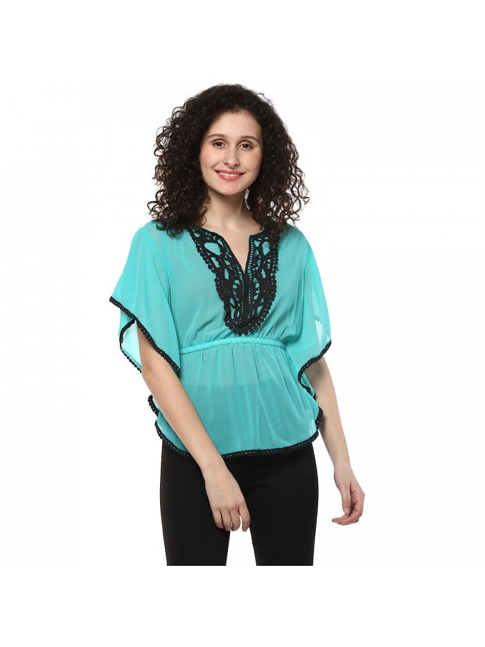 Mayra Sea Blue Top | Znx4ever.com