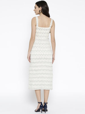 Smocking party off White Dress | Znx4ever.com