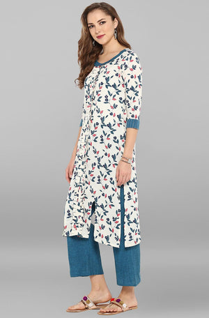Cotton Straight Kurta With Straight Pant | Znx4ever.com