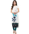 White Printed Kurti | Znx4ever.com