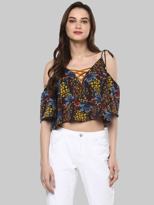 Multicoloured Printed Top | Znx4ever.com