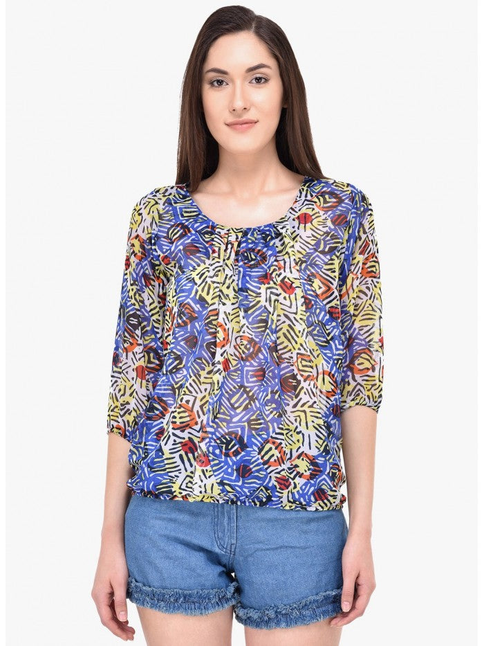Mayra Multi Colour Top | Znx4ever.com