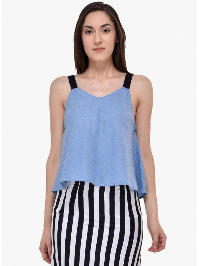 Mayra Blue Colour Top | Znx4ever.com