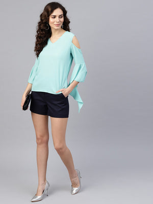 Lurex Flared Bell Sleeves Top | Znx4ever.com