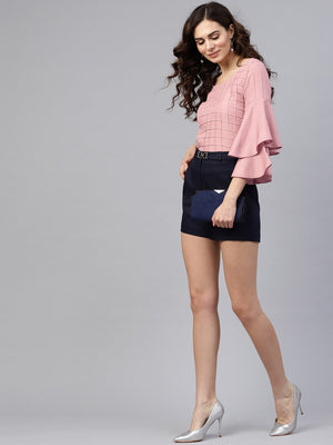 Textured Pleat Top | Znx4ever.com