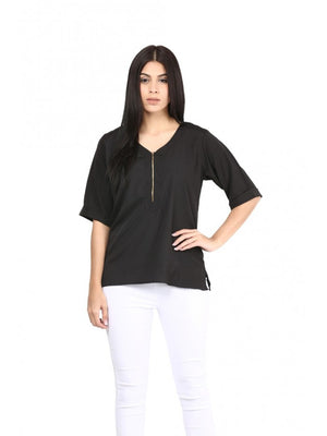 Mayra Black Party Wear Top | Znx4ever.com