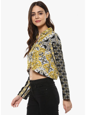 Mayra GoldenRed Colour Royal Printed Top | Znx4ever.com