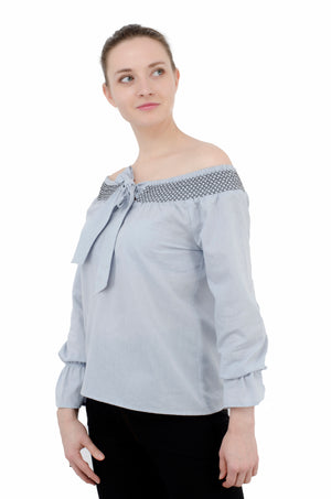 Sky Colour off shoulder top | Znx4ever.com