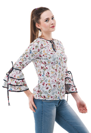 floral printed top | Znx4ever.com