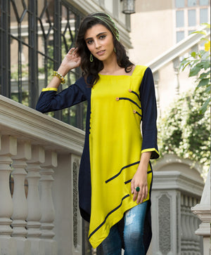 Trendy Green & Blue Kurti | Znx4ever.com