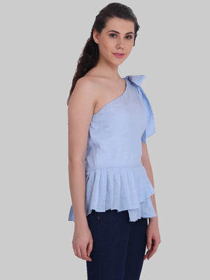 ONE SIDE TIE SHOULDER TOP | Znx4ever.com